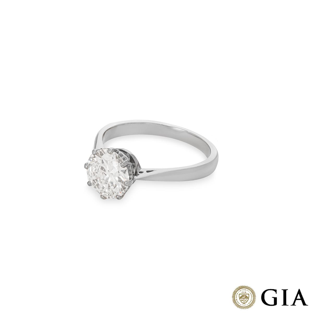Old European Cut Platinum Diamond Ring 1.72ct E/VS1